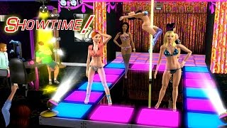 getlinkyoutube.com-Sims 3 - Strip Club Showtime, Runway Catwalk Models, Pole Dancing - Pre-Madonna Exotic Dance Club