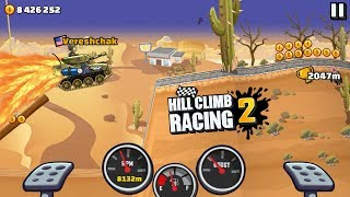 Hill Climb Racing 2 - TANK DESERT VALLEY 10893m NEW RECORD