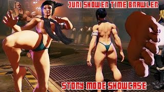 getlinkyoutube.com-Juri Shower Time Brawler Mod - Story Showcase  | SFV Shadow Falls Story Mode | SFV Juri Mods