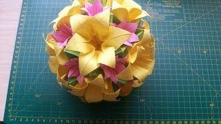 getlinkyoutube.com-Поделки из бумаги своими руками: шар оригами кусудама Электра модуль (ч.1) Kusudama Electra