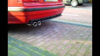 getlinkyoutube.com-BMW e36 316i Soundcheck Jom exhaust