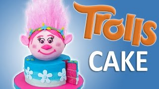getlinkyoutube.com-How to Make a Trolls Cake with Edible Hair from Cookies Cupcakes and Cardio