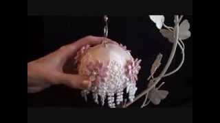 getlinkyoutube.com-Lace Christmas Baubles ( Tresors de Luxe Design Team Project 11)