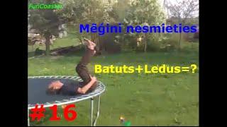 getlinkyoutube.com-Mēģini nesmieties #16 (Batuts+Ledus=?)