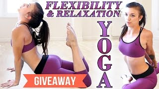 getlinkyoutube.com-Beginners Yoga for Flexibility & Relaxation, Stress & Pain Relief, At Home Workout