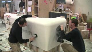 getlinkyoutube.com-Solid Surface Thermoformed LG Hausys Nurses Desk