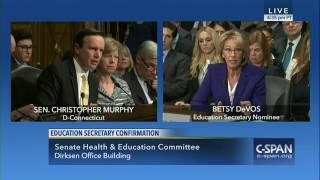 flushyoutube.com-U.S. House of Representatives Special Orders Chris Murphy confronts Betsy DeVos over guns in schools