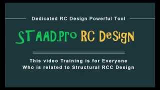 getlinkyoutube.com-STAAD.Pro RC Design Advanced Tutorial for Beam,column,slab Design