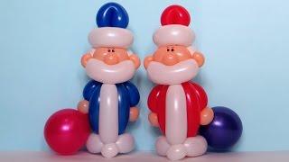 getlinkyoutube.com-Дед Мороз из шаров / Santa Claus of balloons (Subtitles)