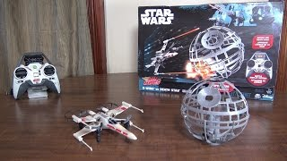 getlinkyoutube.com-Air Hogs - Star Wars X-Wing vs Death Star - Review and Flight