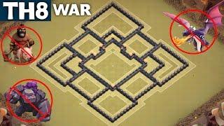 getlinkyoutube.com-BEST TH8 WAR BASE Town Hall 8 | ANTI GOWIPE | ANTI DRAG | ANTI HOG | Clash of Clans