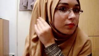 getlinkyoutube.com-Hijab Tutorial: Brown layered hijab (volumised)
