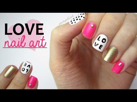 Nail Art for Valentine's Day: LOVE Mix & Match Design!