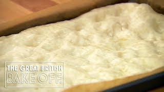 Shaping Focaccia Bread - The Great British Bake Off