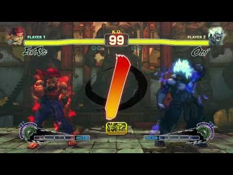 SSFIV Arcade Edition 'Oni vs Evil Ryu Gameplay Trailer' TRUE-HD QUALITY