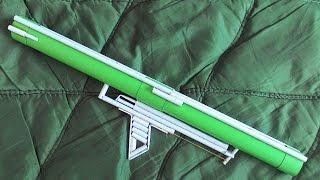 getlinkyoutube.com-How to make a Paper Bazooka that Shoots - (Super Powerful / Easy)