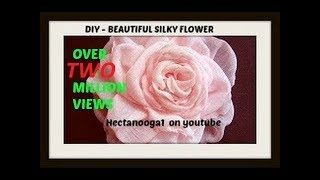getlinkyoutube.com-How to make a beautiful silky flower. Fabric flower tutorial