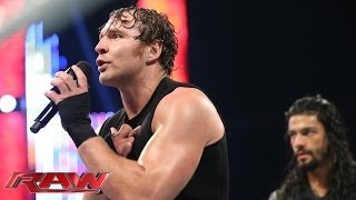 Dean Ambrose & Roman Reigns address Seth Rollins' betrayal: Raw, June 9, 2014