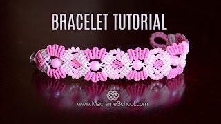 getlinkyoutube.com-Butterflies in Flowers - Macramé Bracelet Tutorial in Boho Style