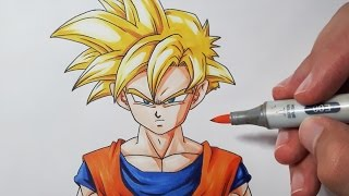 getlinkyoutube.com-How To Draw Gohan Super Saiyan - Step by Step Tutorial!
