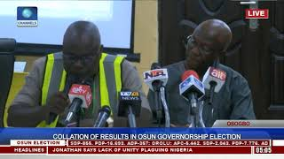 Collation Of Results In Osun Governorship Election Pt.12 |Osun Decides|