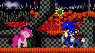 getlinkyoutube.com-AN Mugen Request #578: Evil Mario & Pinkamena VS Sonic.exe & Super Mario