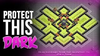 getlinkyoutube.com-PROTECT THIS DARK  |  MAX TH8 BASE | Clash of Clans Gameplay