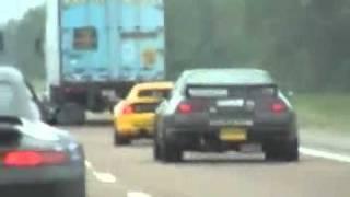 coches de lujo vs policia