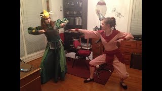Cosplaying as Suki and Ty Lee for Halloween! | Avatar the Last Airbender