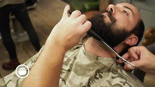 Best Way to Shape Curly Beard at Barbershop   Hari Cut & Grind