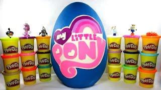 getlinkyoutube.com-Мой маленький пони ♥ Гигантское яйцо Плей До с сюрпризами МОЙ МАЛЕНЬКИЙ ПОНИ