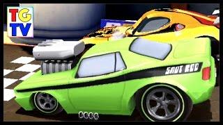 getlinkyoutube.com-Disney Pixar Cars SnotRod 4 Screen Race & Paint Jobs | Cars Fast as Lightning
