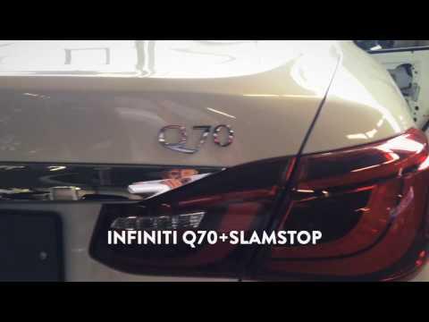 Тюнинг Infiniti Q70. Установка доводчика дверей SLAMSTOP(СламСтоп) на Infiniti Q70 в СПб