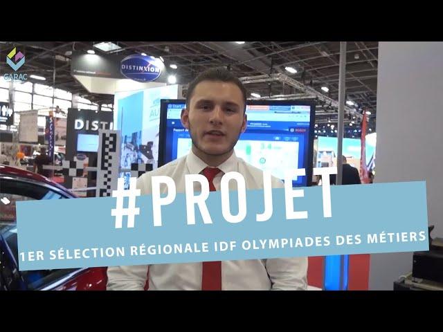 Jarod Loeven, 1er Sélection régionale IDF Olympiades des Métiers