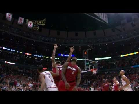NBA Eastern Conference Final 2011 LeBron James Blocks Derrick Rose's Shot