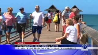 Proponen prohibir fumar en las playas del Suroeste de Florida
