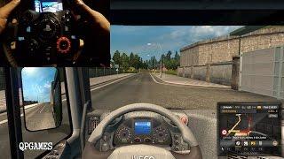 getlinkyoutube.com-Euro Truck Simulator 2 Volvo VNS Wheelcam Logitech G29