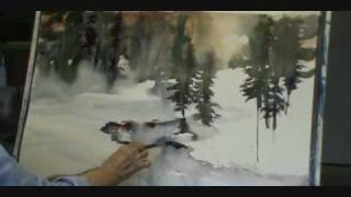 getlinkyoutube.com-Watercolor Winter stream