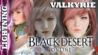 Black Desert Online - Character Creator - Valkyrie : Claire/Lightning Farron Attempt, FAIL