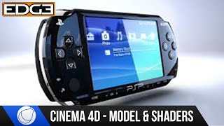 Cinema 4D Tutorial - Modeling and Shading The Sony PSP HD #2