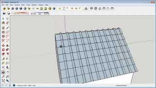 getlinkyoutube.com-Sketchup Tutorial Realistic Roof