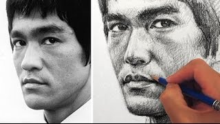 getlinkyoutube.com-How to Draw a Portrait of Bruce Lee