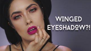 "getlinkyoutube.com-How to Get the ""Winged Eyeshadow"" look | NEW Colour Pop Pressed Powders | Melissa Alatorre"