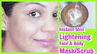 getlinkyoutube.com-Instant Skin Lightening Face & Body Mask/Scrub For Dark spots ,wrinkles| SuperPrincessjo