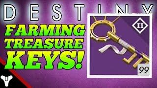 """Destiny: """"GET TREASURE KEYS FAST!"""" Destiny How to Farm Treasure Keys (Destiny Ether Chest Farming)"""