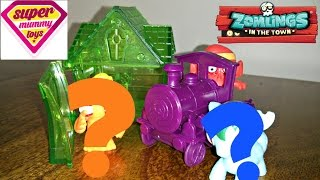 getlinkyoutube.com-Zomlings Series 3 Train Crystal House Blind Bags Unboxing Toy Review