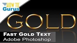 getlinkyoutube.com-How to Create a Fast Metallic Gold Text Effect in Adobe Photoshop CS5 CS6 CC Tutorial