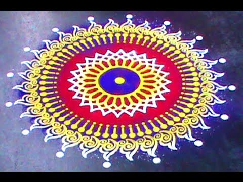 Making Rangoli designs using Stencil