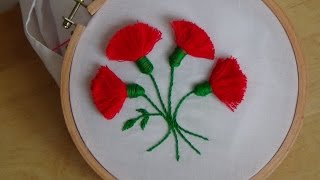 getlinkyoutube.com-Hand Embroidery: Tassel Stitch (Flowers)