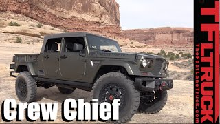 getlinkyoutube.com-We Drive the Jeep Crew Chief 715 Pickup Truck Concept Off-Road!